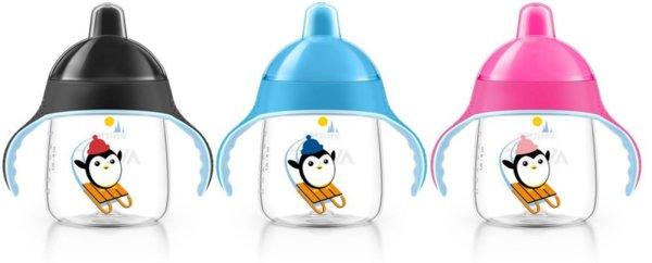 Avent Неразливаща се чаша с твърд накрайник 260мл 12м+ Пингвин 0484